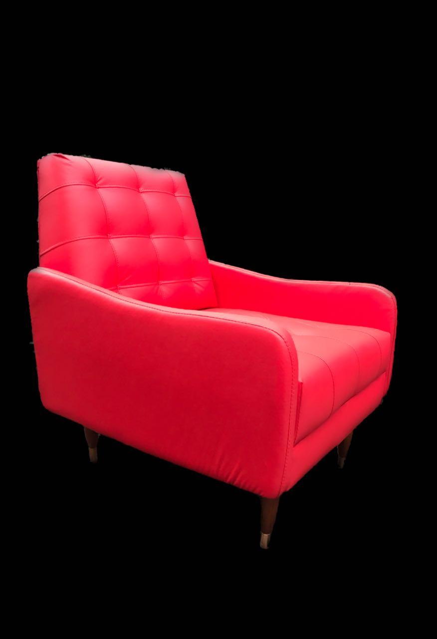 Poltrona Vintage de Corino Vermelha
