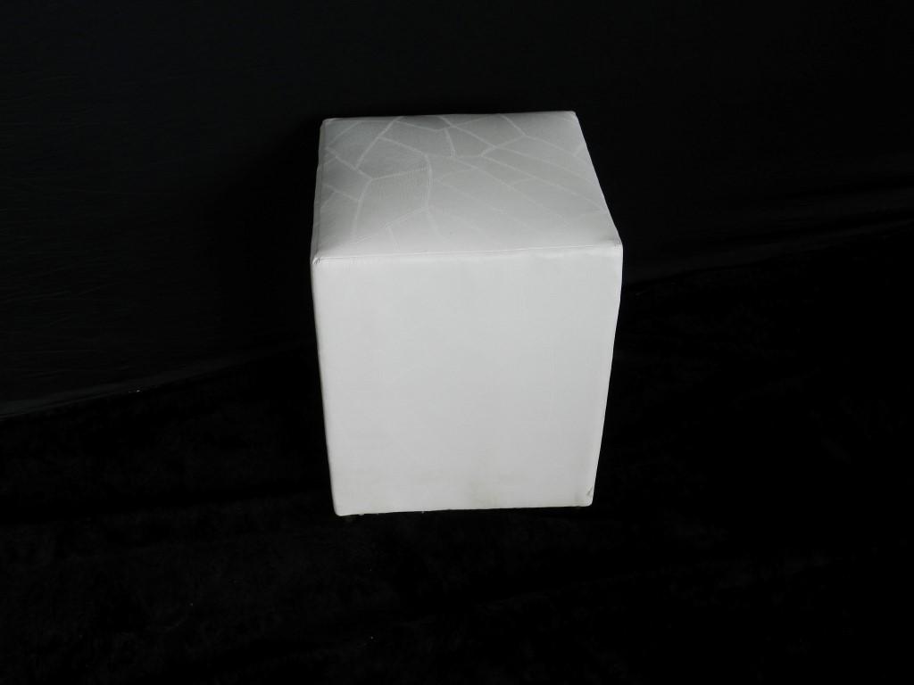 Pufe Branco 1 Lugar