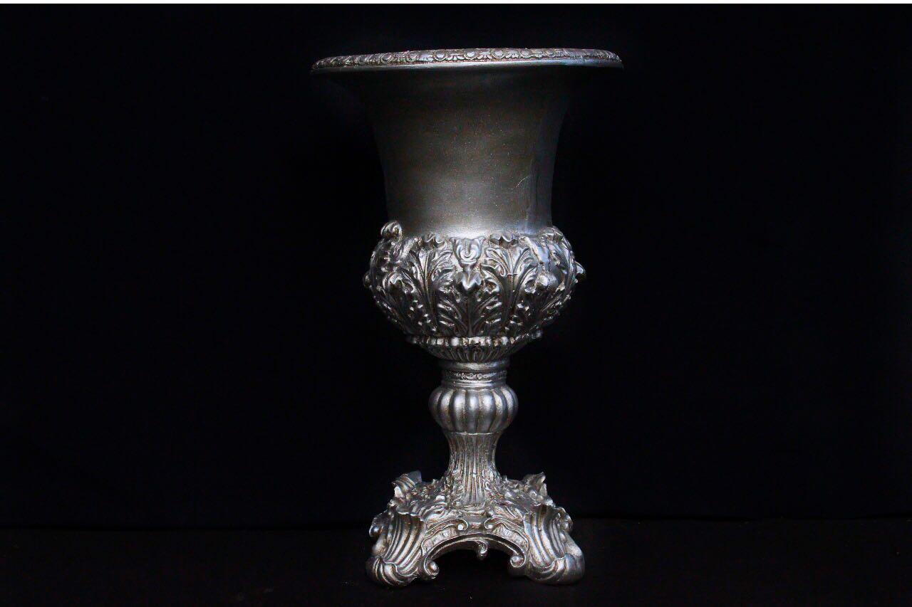 Vaso Imperial Prata Envelhecido 60cm
