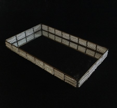 Bandeja Retangular Perola 41x26